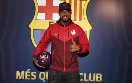Kevin-Prince Boateng's first photos as a Barça player
