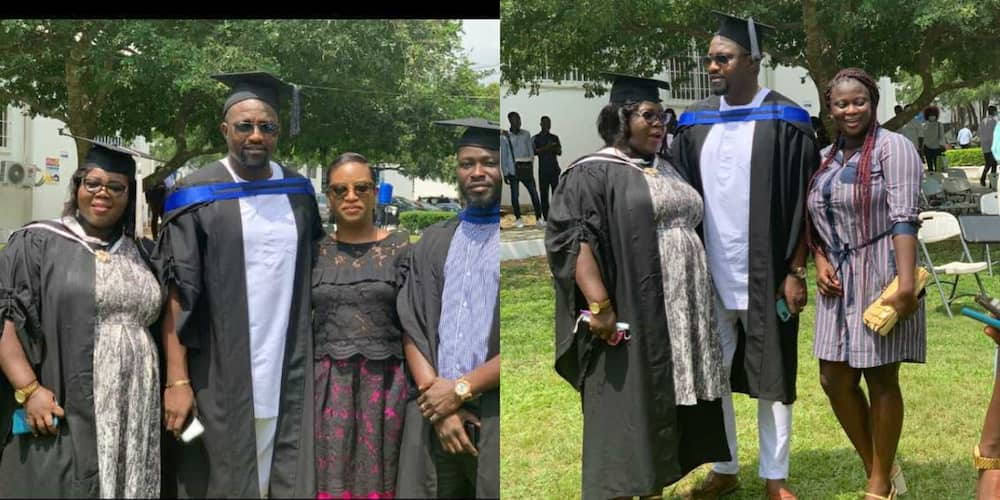 Photos drop as John Dumelo graduates with first degree from GIMPA