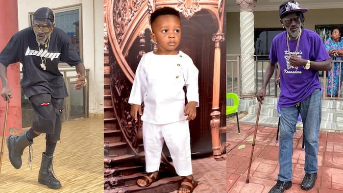 Meet Kumawood actor Lil Win's handsome 4th son as he celebrates his birthday