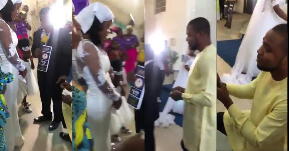 Pastor Stops Man From Proposing To Daughter At Another Couple's Wedding (Video)