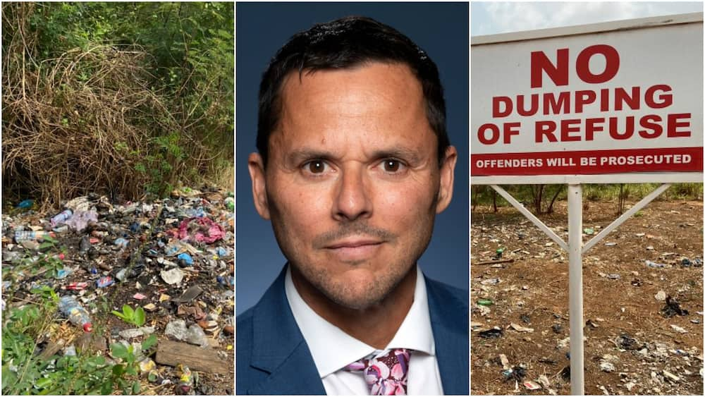 Austrialian High Commissioner worries over heap of rubbish at Legon bypass