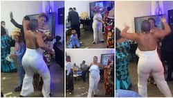 Woman on jumpsuit 'scatters' birthday party with weird marching dance moves