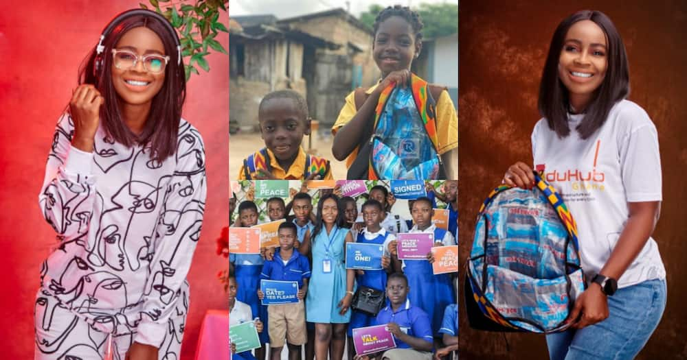 Abena Yeboah: Meet the Ghanaian lady providing poor students with bags made with pure water sachets