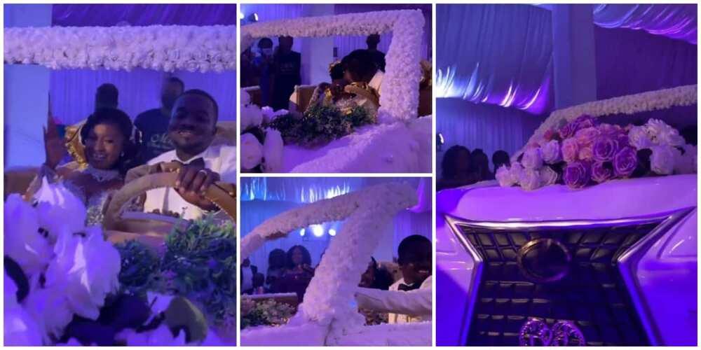 Social media gush as couple use big white car cake for their wedding