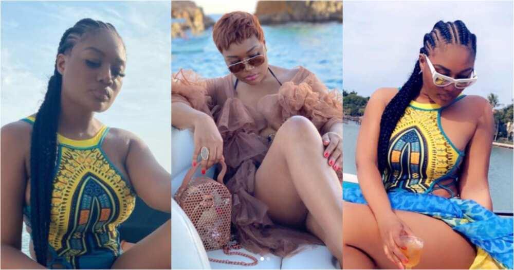 Sandra Ankobiah drops jaws as she flaunts her raw thighs in hot bikini photos