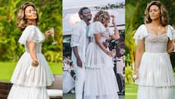 Beautiful photos drop as Sulley Muntari's wife holds an all-white 40th birthday party