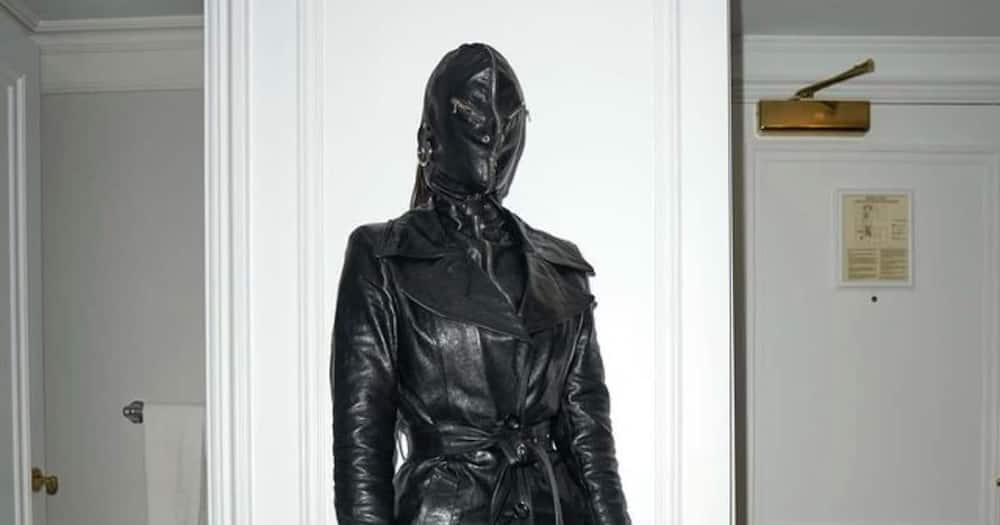 Kim Kardashian spotted in New York with all-leather outfit.