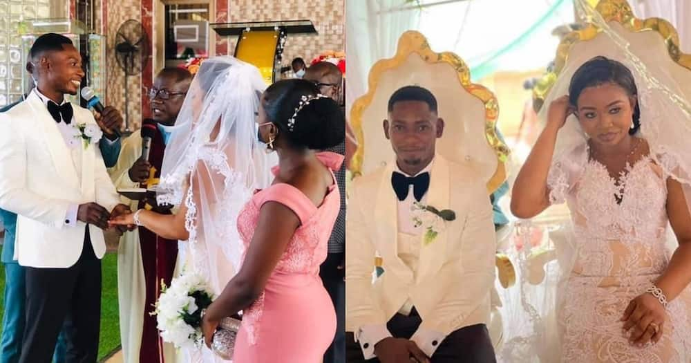 Richard Agu Wedding: Photos & Videos As Soldier Marries Benedicta In Obuasi Without Trouble From Comfort Bliss