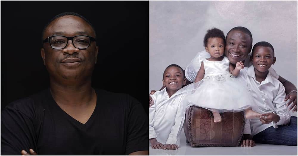 Yaw Pare: 'Tight paddy' of late Bob Pixel sets up fund to support his wife & 3 adorable kids