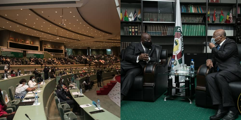 Akufo-Addo pays working visit to ECOWAS commission in Abuja; photos drop