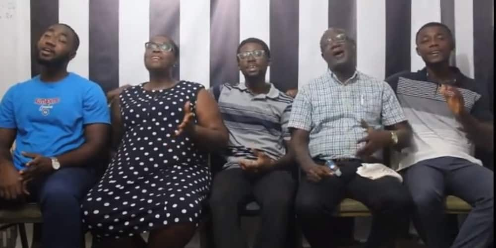 Ghanaian mom, dad & kids perform amazing choral music at home