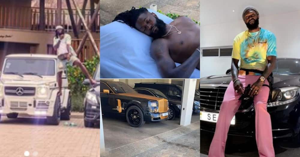 Emmanuel Adebayor proves he's rich as he flaunts his expensive cars in new photo
