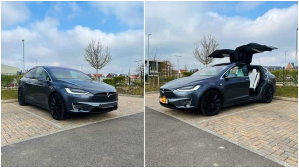 Young man Buys Tesla Electric Car, Says Trading Bitcoin Gave him the Money, many React