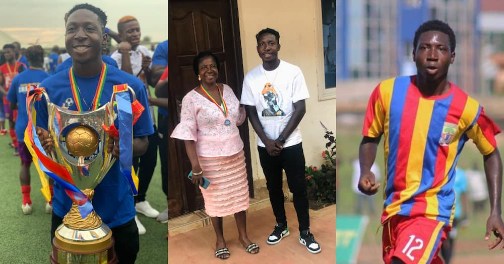 Hearts of Oak defender William Dankyi shares GPL medal with lovely mother