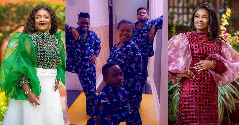 Ohemaa Mercy: Gospel Singer Shows Off Her Three Strong Boys in New Photos