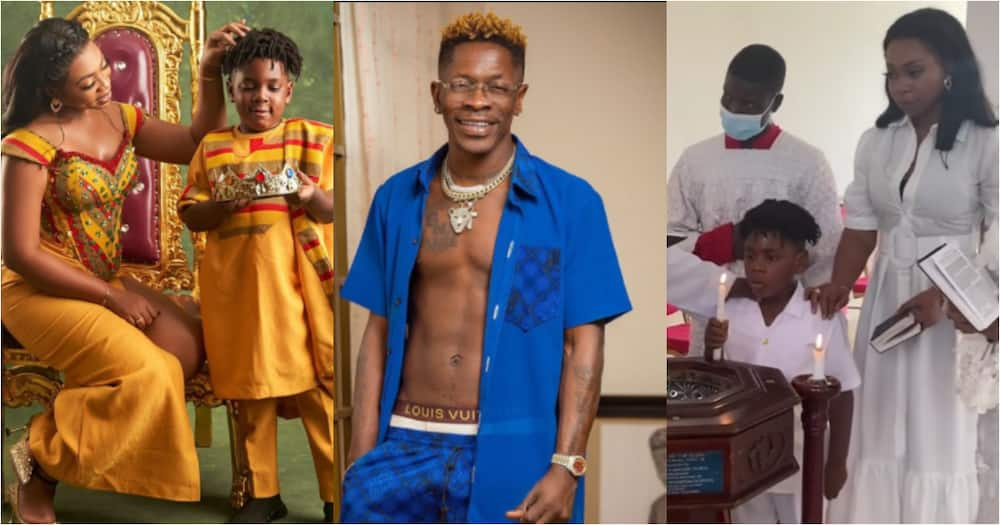 Shatta Wale doesn't pay fees? - Fans ask after Michy boldly said she pays son's school fees