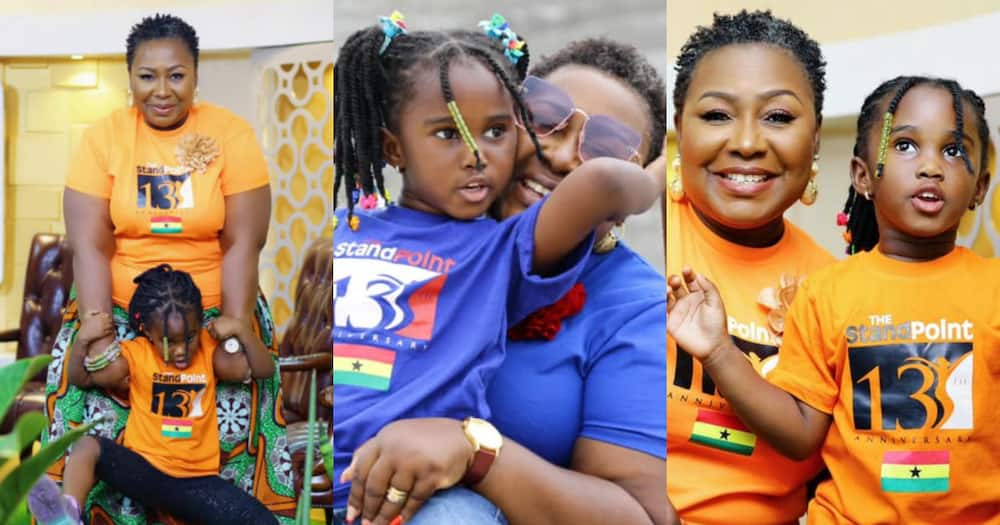 Oheneyere Gifty Anti rocks matching outfits with tall daughter as she marks 13th anniv of The StandPoint