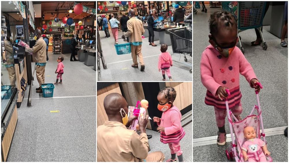 Emotional moment father who could not buy toy for daughter get surprise money from stranger at supermarket