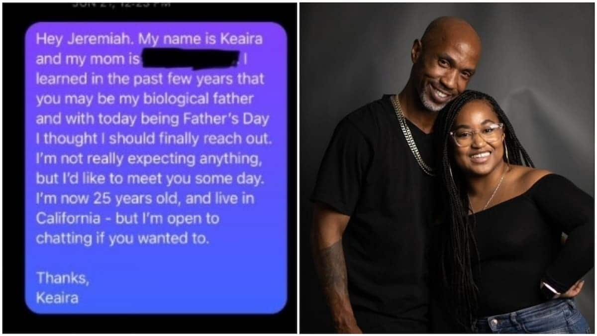 Lady finally found dad who has been missing in her life, 'abandoned' her mum for 25 years, reunites with him (photos)