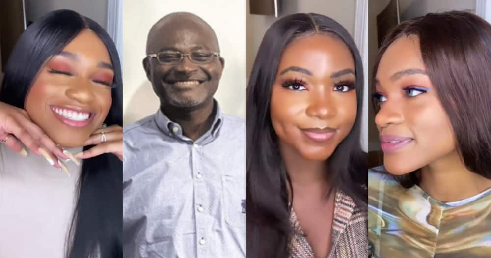 Ken Agyapong's daughters give beauty tips as they flaunt their curves in videos
