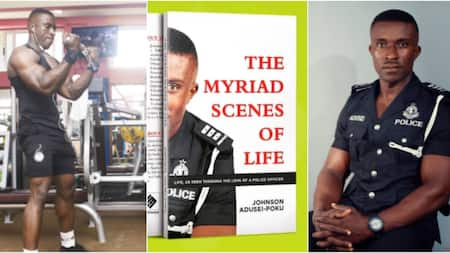 From Shoeshine to 'Trotro' Mate: The Ghanaian Policeman Pursuing a Law Degree; Set to Publish 1st Book