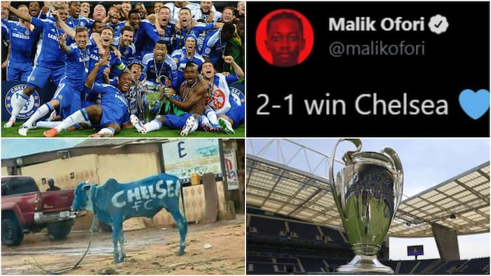 Champions League Final: Ghana Chelsea fans silence Man City supporters in bragging rights