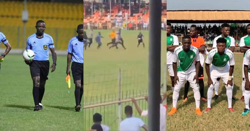 Ghanaian referee runs for his life as fans chase him in a match between RTU and B.A united