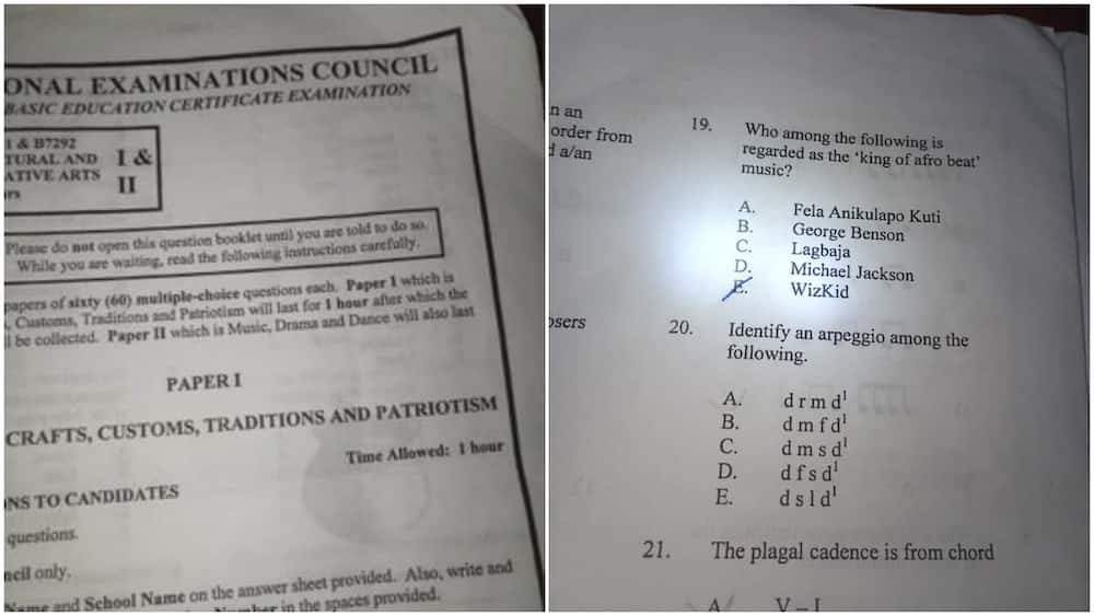 Young Lady Fails NECO Exam Question After Choosing Wizkid as an Answer, Nigerians React