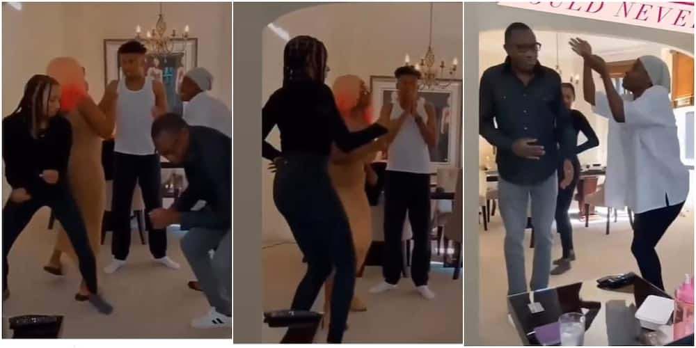 Femi Otedola parties and dances at home with his children