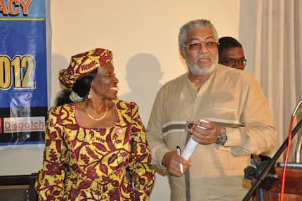 Rawlings & Nana Konadu thrill fans with wild dancing skills at her 70th birthday party (Video)