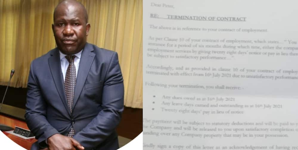 Peter Opondo: Man Publicly Shares he was Dismissed for Unsatisfactory Performance After 20 Years