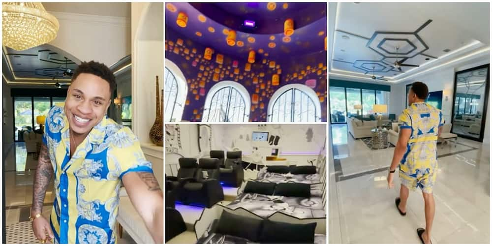 Nigerian-American Actor Rotimi Gives Grand Tour of Palatial Mansion Where He's Hosting Family, Friends