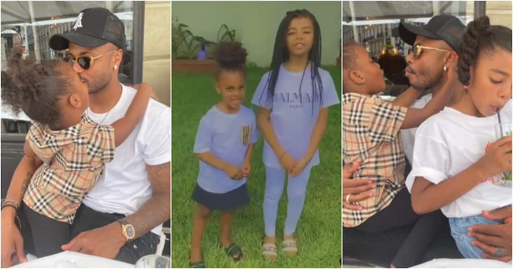 André Ayew shares photo of his beautiful daughters in adorable family photos