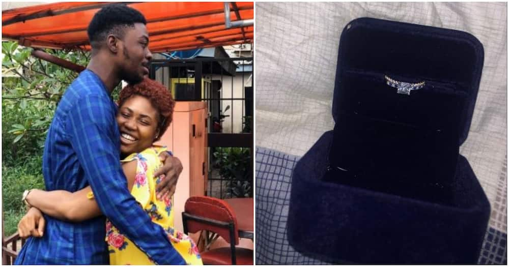 Nigerian man sends engagement ring and proposal letter to girlfriend through transport company (photos)