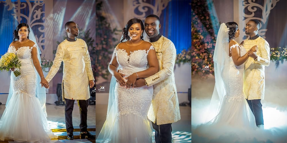 Official photos from the white wedding of Joe Mettle and Salomey Dzisa pop up