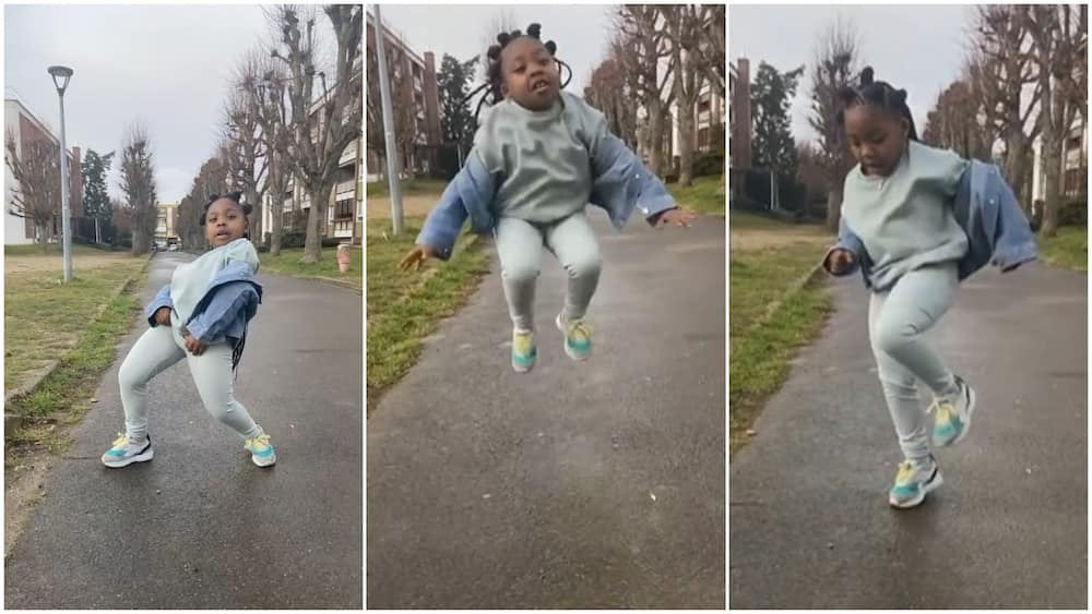 Little girl scatters leg moves to Highway song by DJ Kaywise and Phyno, video goes viral