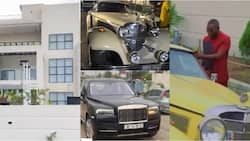 Despite, Ofori Sarpong storm millionaire friend's house party in exotic cars; videos pop up