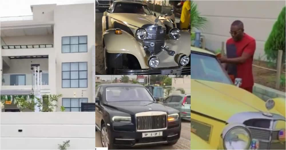 Despite and Ofori Sarpong storm millionaire friend's house party in exotic cars