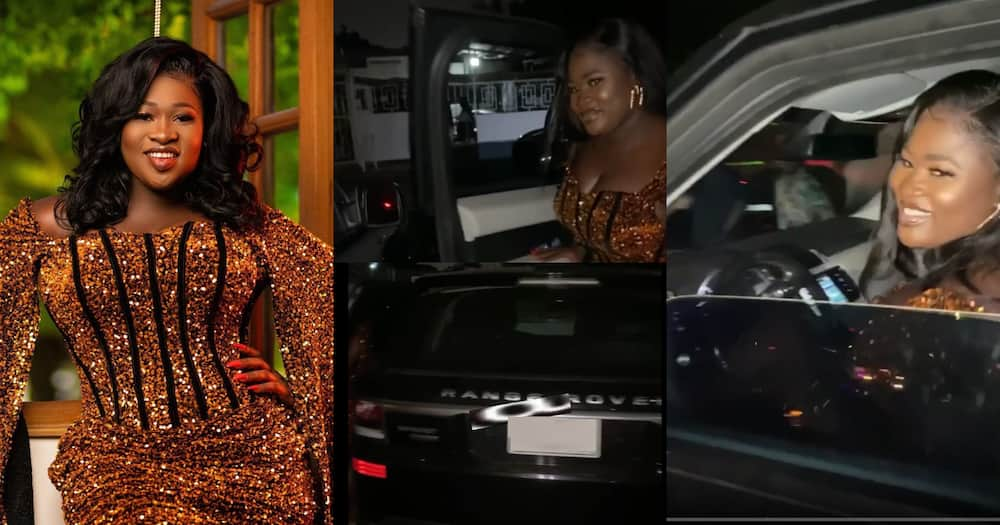 Sista Afia shows off new Range Rover at her birthday party