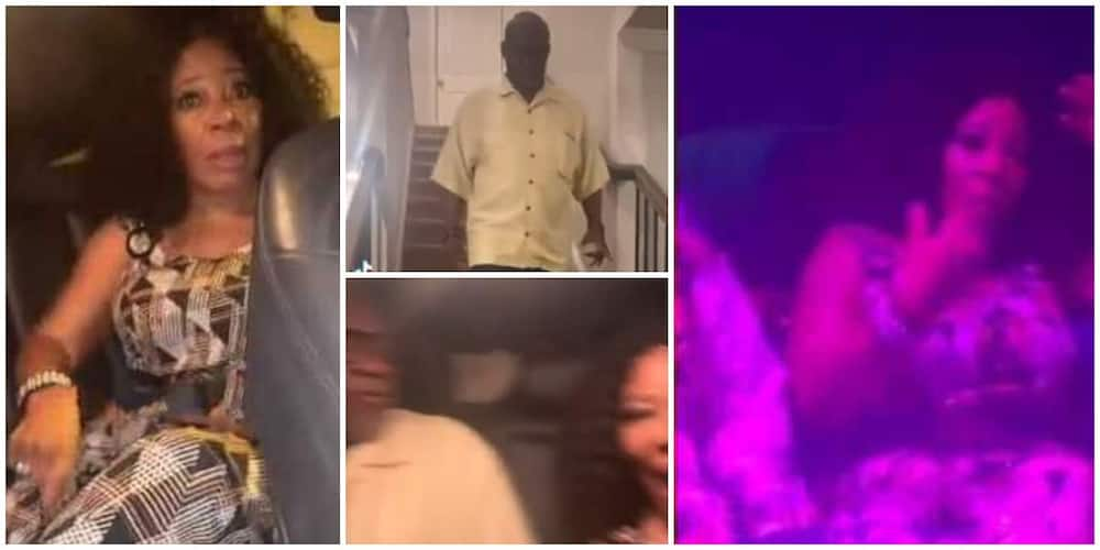 Video shows mother's reaction after daughter took her and the dad to night club in US