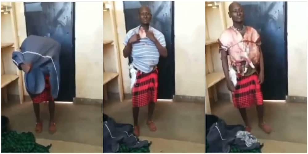 Man straps stolen meat around his body like bullet proof, video of him goes viral