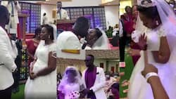 Beautiful videos from the white wedding of Funny Face's ex-wife emerge online