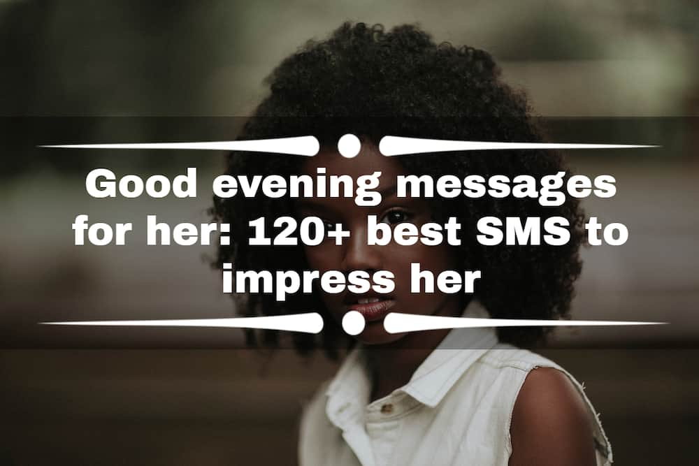 Good evening messages for her