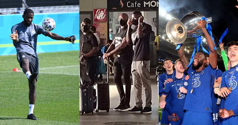 Chelsea defender Antonio Rudiger and ex-coach Avram Grant arrive in Ghana for holidays