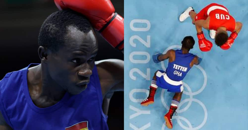 Team Ghana Captain Sulemanu Tetteh out of the Olympics after losing in the Men's Flyweight Boxing