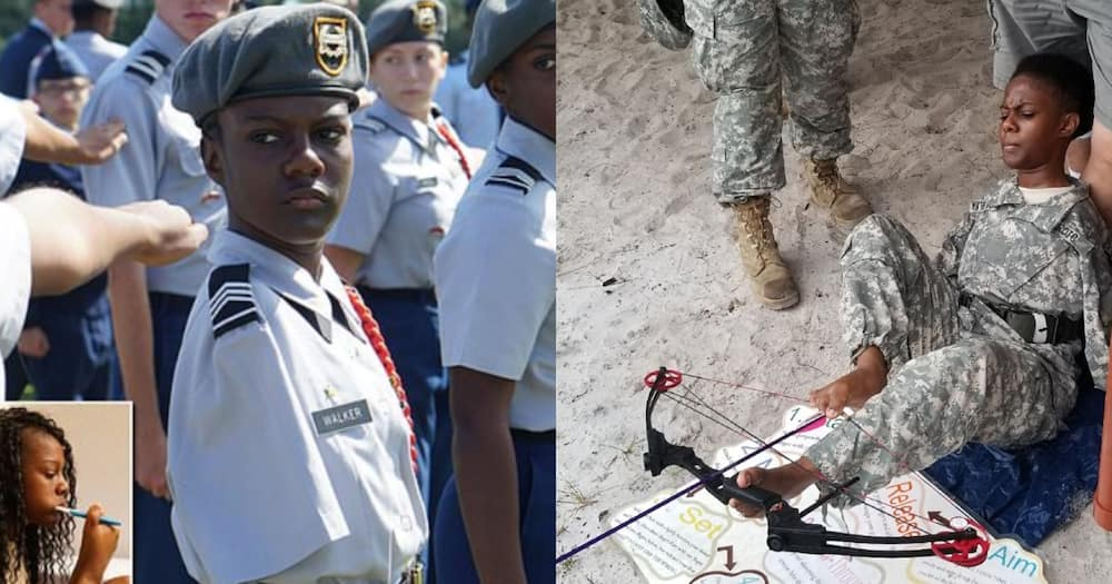 Meet 18-year-old black girl without arms who made it into the US army cadet