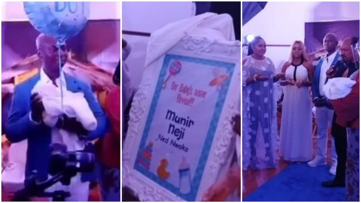 Regina Daniels & 56-yr-old hubby hold plush naming ceremony for their son (Photos, video)