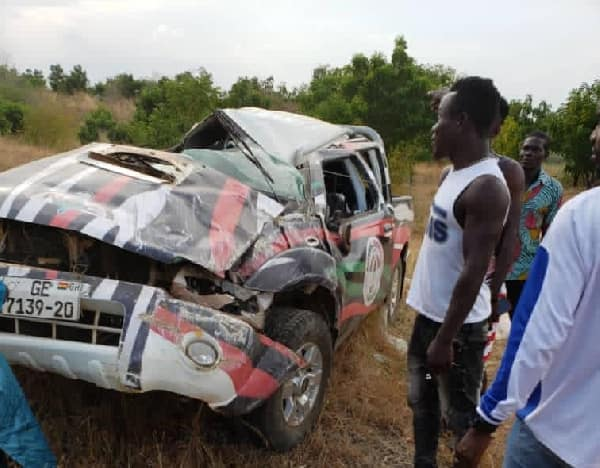 Not again! 3 NDC executives involved in car accident at Afram Plains