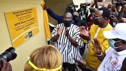 Vice Prez. Dr. Mahamudu Bawumia commends MTN Ghana for building 600 beds dormitory for TAMASCO