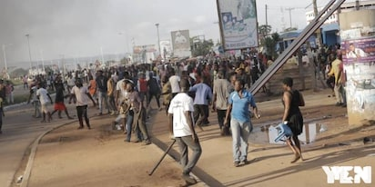 Adenta residents hit the streets again; embark on another demo over footbridges